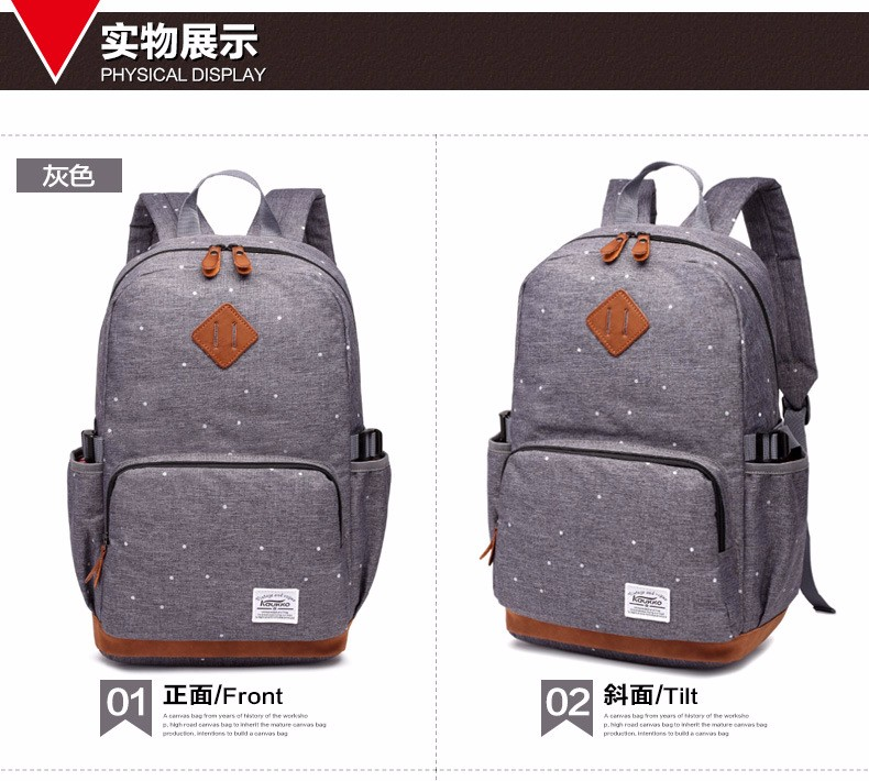 1c23a9bbc9 Korean Oxford Dot Printing Student School Bags Teenage Girls Casual Satchel  Dotted Campus Backpack Rucksack Laptop Bag Back Pack. 1 2 3 4 ...