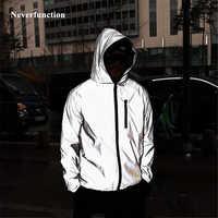 a335ce405a2 М плюс размеры 4XL для мужчин демисезонный полный 3 м светоотражающие  ветровка водостойкая куртка мужской High