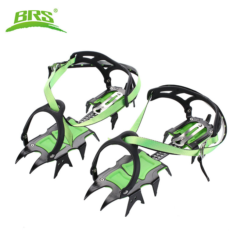 BRS Professional 14 Teeth Ice Crampons Winter Snow Boot Shoes Covers Gripper Manganese Steel Ice Grippers Crampons