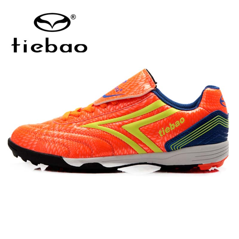 TIEBAO Professional TF Turf Rubber Soles Outdoor Children Kids Football Shoes Teenager Training Shoe Sneakers