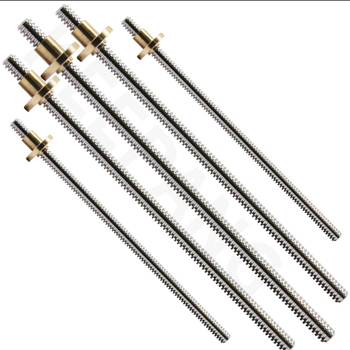 T8 Lead Screw OD 8mm Pitch 2mm Lead 2mm 100mm 150mm 200mm 250mm 300mm 330mm 350mm 400mm 500mm with Brass Nut for 3D Printer