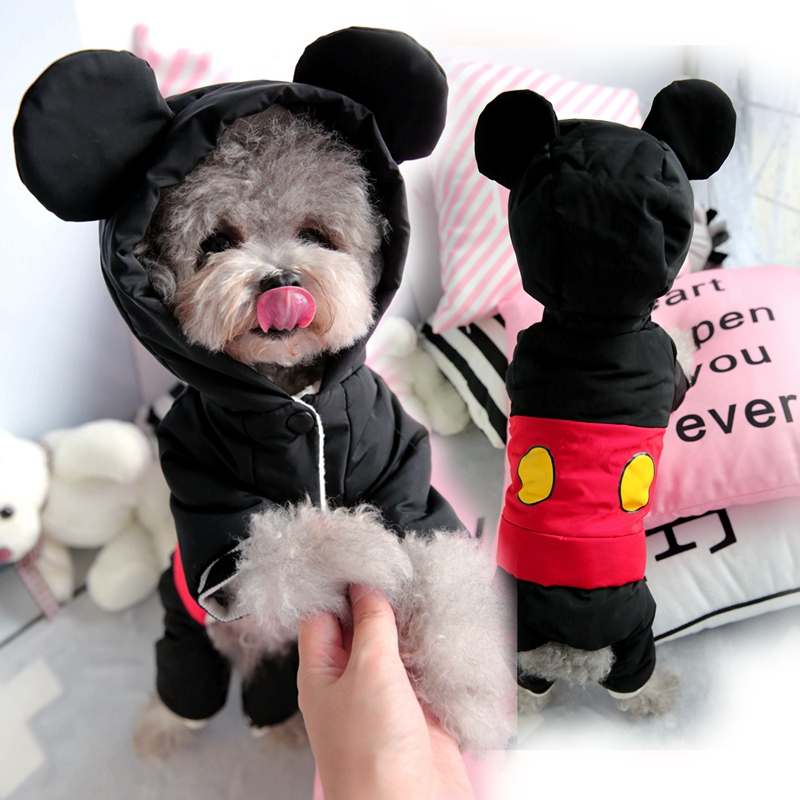 Thick Winter Small Dog Jumpsuit Warm Clothes Waterproof Pet Parka Jacket Chihuahua Puppy Padded Coat Outfit