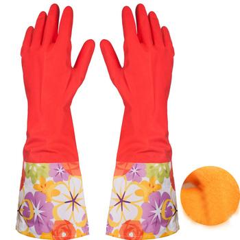 Wodoodporna rękawica do mycia naczyń domowych zatrzymuje pył wodę do czyszczenia rękawica gumowa tanie i dobre opinie 100-140g CZYSZCZENIE Średniej grubości MOM S HAND RUBBER YY-ST0001