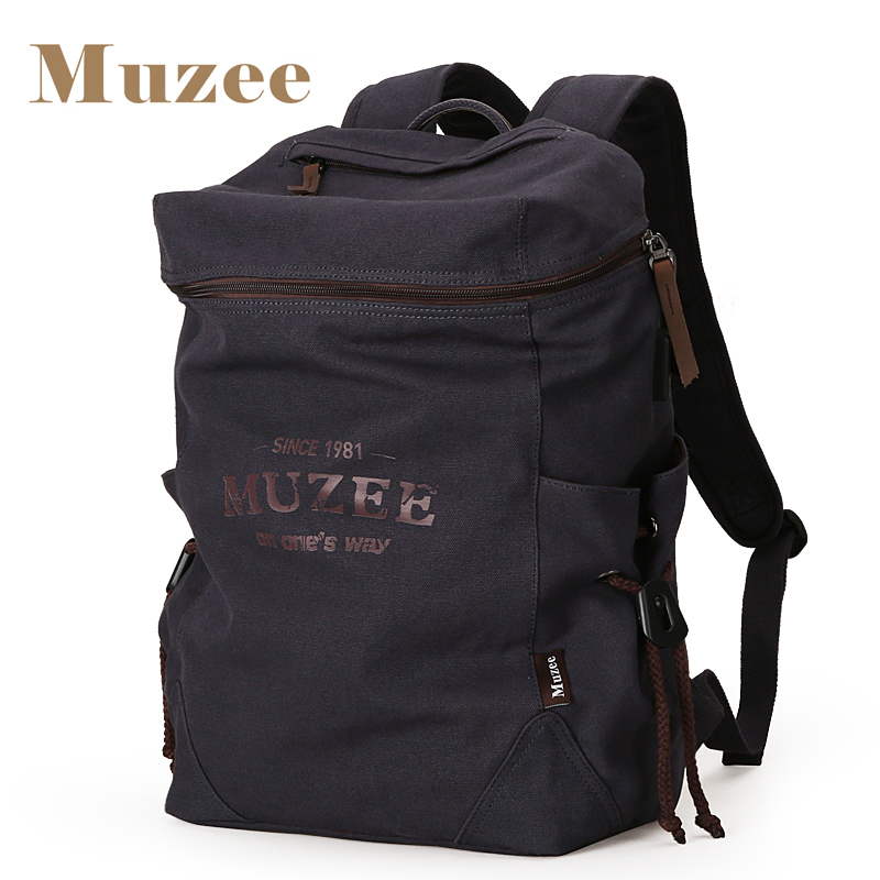 e22c9fb9fe8b Buy Muzee New Men Backpack Canvas Backpack Bags College Student Book Bag  Large Capacity Fashion Backpack 15.6inch Laptop Bag Online
