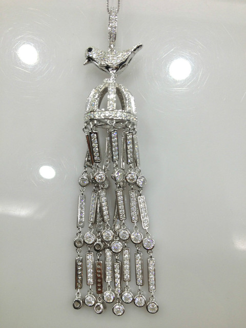 Птица ювелирных изделий шкентель кисти 925 стерлингового серебра с циркон бесплатная доставка Высокое качество DIY ювелирных изделий