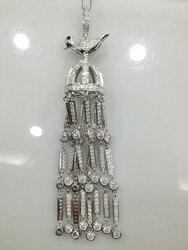 والنتائج والمجوهرات الطيور قلادة الشرابة 925 فضة مع الزركون شحن مجاني أعلى جودة diy مجوهرات اكسسوارات