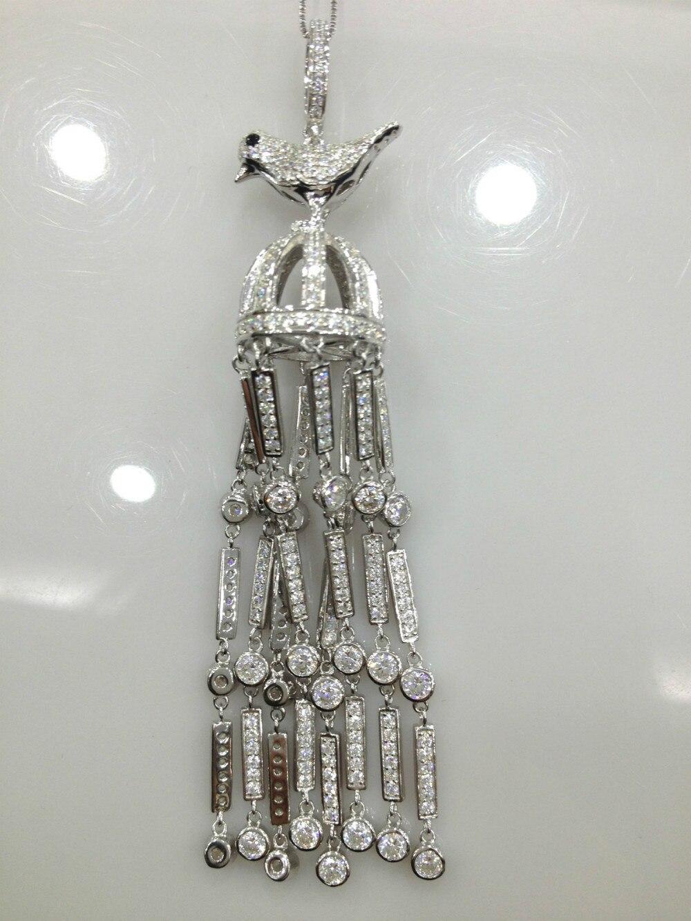 Résultats de bijoux d'oiseaux pendentif glands 925 en argent Sterling avec Zircon livraison gratuite accessoires de bijoux à bricoler soi-même de qualité supérieure