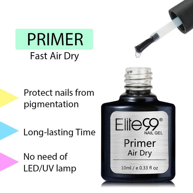 Elite99 10 ml Schnelle Luft Trockenen Primer UV LED Gel Basis Primer Keine Notwendigkeit Von UV/LED Lampe Tränken off Gel Nagellack Für Nail art Design