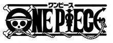 Logo de una sola pieza con una pegatina de vinilo cortada de ancla de cuerda, pegatina exclusiva de pared de ventilador de mar de logotipo de One piece, decoración del hogar HZW13
