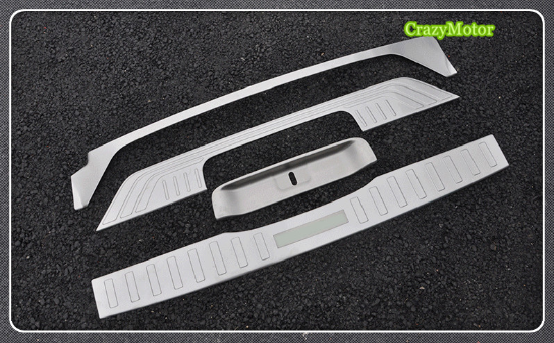 For Mercedes-Benz Vito W447 2014-2017 4pcs/set Stainless steel car Rear Bumper Protector Sill Trunk Trim accessories rear bumper protector threshold plate cover sill trim for mercedes benz metris valente vito viano v class w447 2016 2017 2018