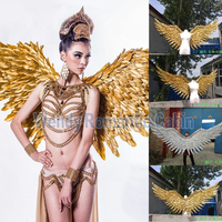 2017 new style gold angel wing props catwalk show props festival Angel Feather wings Window props underwear show costume