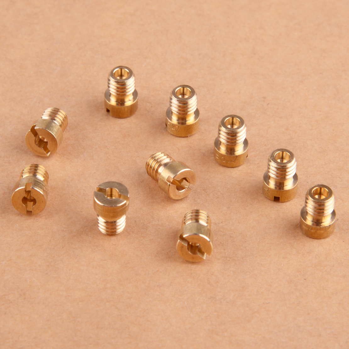 LETAOSK 10pcs Gold Main Jets Nozzle Set 5mm Thread 75-98 Fit For Dellorto Carburetor
