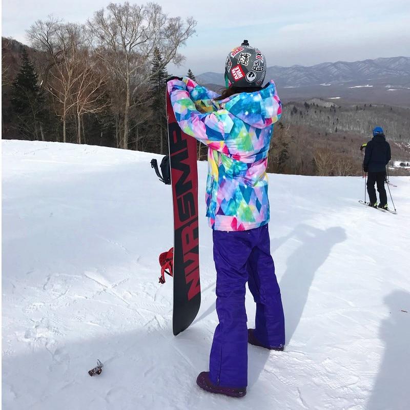 Genuine Women's Ski Suit Winter Skiing Jacket Snowboard Suit Snowboarding Sets  Breathable Windproof Waterproof Keep Warm Equip