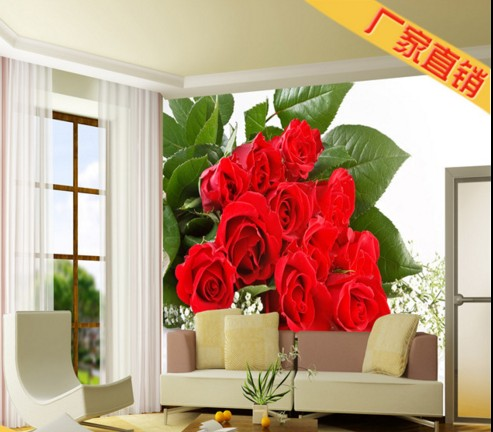Custom Environmental 3D stereoscopic large mural wallpaper wall paper living room TV background wallpaper romantic red roses custom photo wallpaper 3d stereoscopic cave seascape sunrise tv background modern mural wallpaper living room bedroom wall art