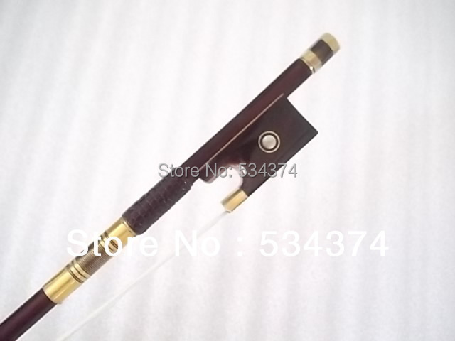 Livraison gratuite Top qualité Brazilwood Antique violon arc meilleur naturel mongolie cheval queue et meilleur élastique ton chaud, taille 4/4