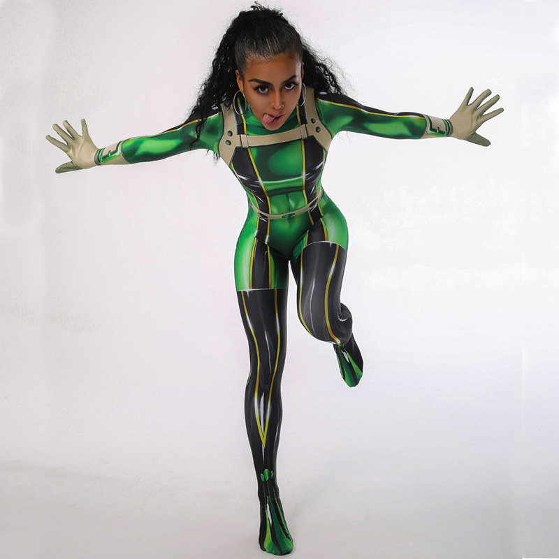 Boku No Hero Academia Cosplay My Hero Academia Froppy Tsuyu Asui Costume Cosplay Suit Women Halloween Costume For Women Adult