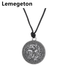 Lemegeton Viking Pendant from Vadstena Bracteate Sweden Swedish Coin Necklace Amulet Jewelry For Men and Women Amulet Charms(China)