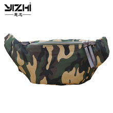 YIZHI Mens Messenger Bag Leisure Camouflage Canvas  2018 New Fashion Chest