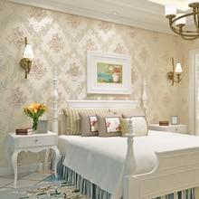 Floral Strömten Nicht Gewebt Klassische Damast Tapete Blume Striped Lila  Luxus Wand Papier Blau Für Wände