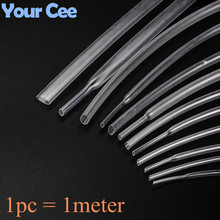 1 pcs 1 meter 1MM 12MM 15MM 16MM 18MM 20MM 25MM  Heat Shrink Insulation Sleeving Heatshrink Tubing Transparent Clear