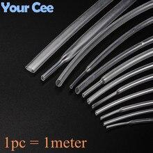 Tubing Heatshrink Transparent 1MM 1pcs 1-Meter 20MM 25MM Sleeving Clear