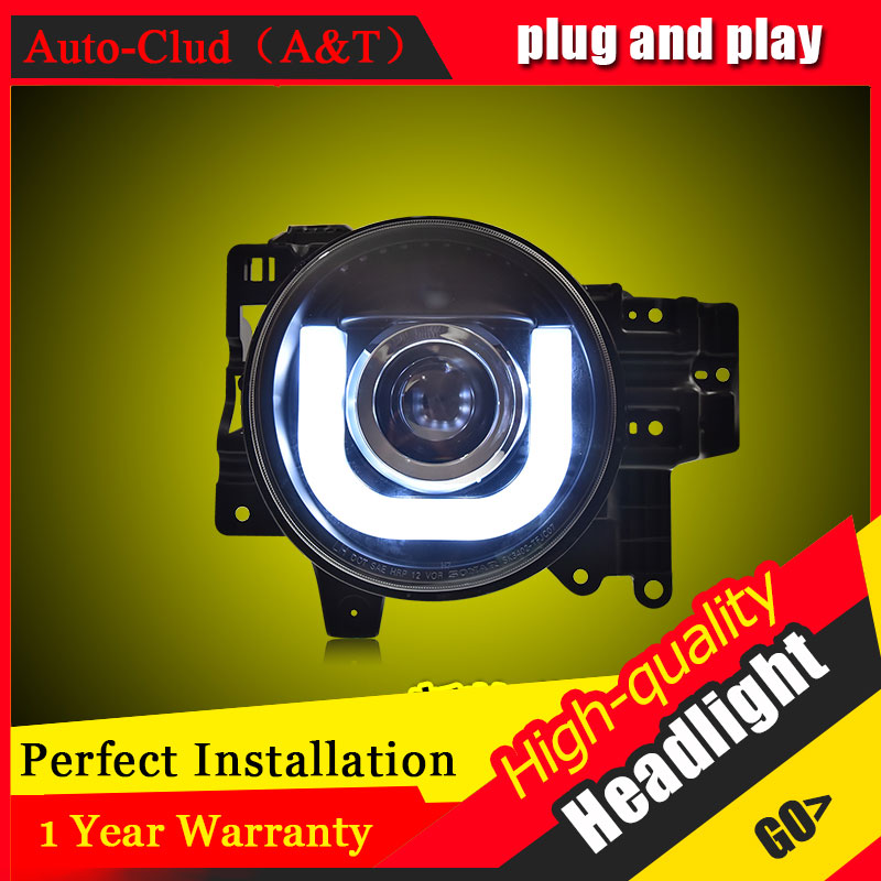 Auto Clud Car Styling For Toyota Fj CRUISER headlights For Fj CRUISER head lamp led DRL front Bi-Xenon Lens Double Beam HID KIT