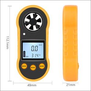 Image 4 - RZ مقياس شدة الريح سرعة الرياح المحمولة الرقمية مقياس سرعة الرياح المحمولة مقياس شدة الريح استشعار سرعة الرياح RZ818 GM816 0 30 متر/الثانية الرياح متر