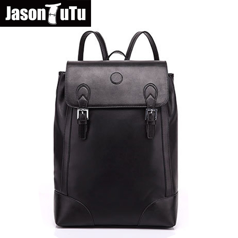 high quality PU leather backpack For Men Laptop Travel  back pack Daypacks Brand school bags for teenagers Mochila B134 vkingvsix usb waterproof school bags for teenagers 14 17 inch laptop backpack men women boy travel back pack bagpack mochila