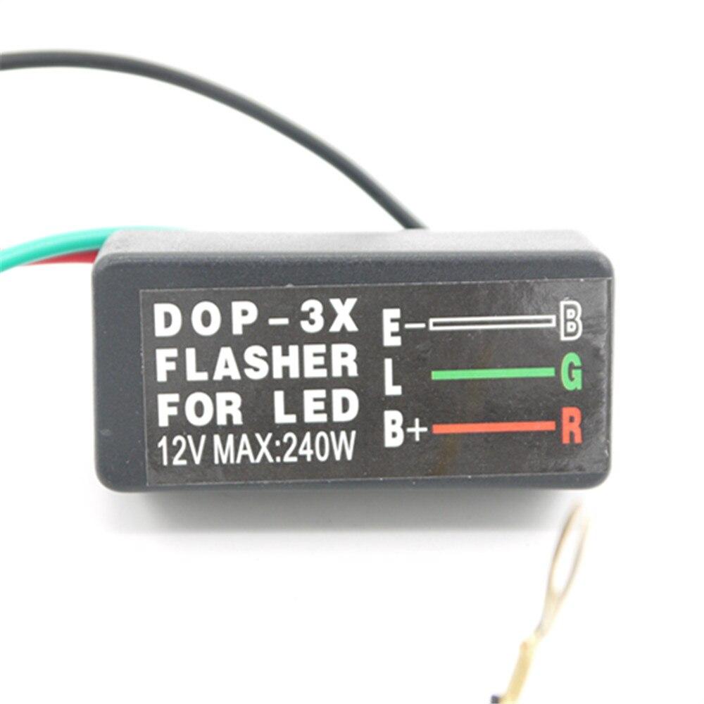 Eonstime 12V 240W 3 Pin Flasher Relay Motorcycle Car LED Turn Signal Light New Universal