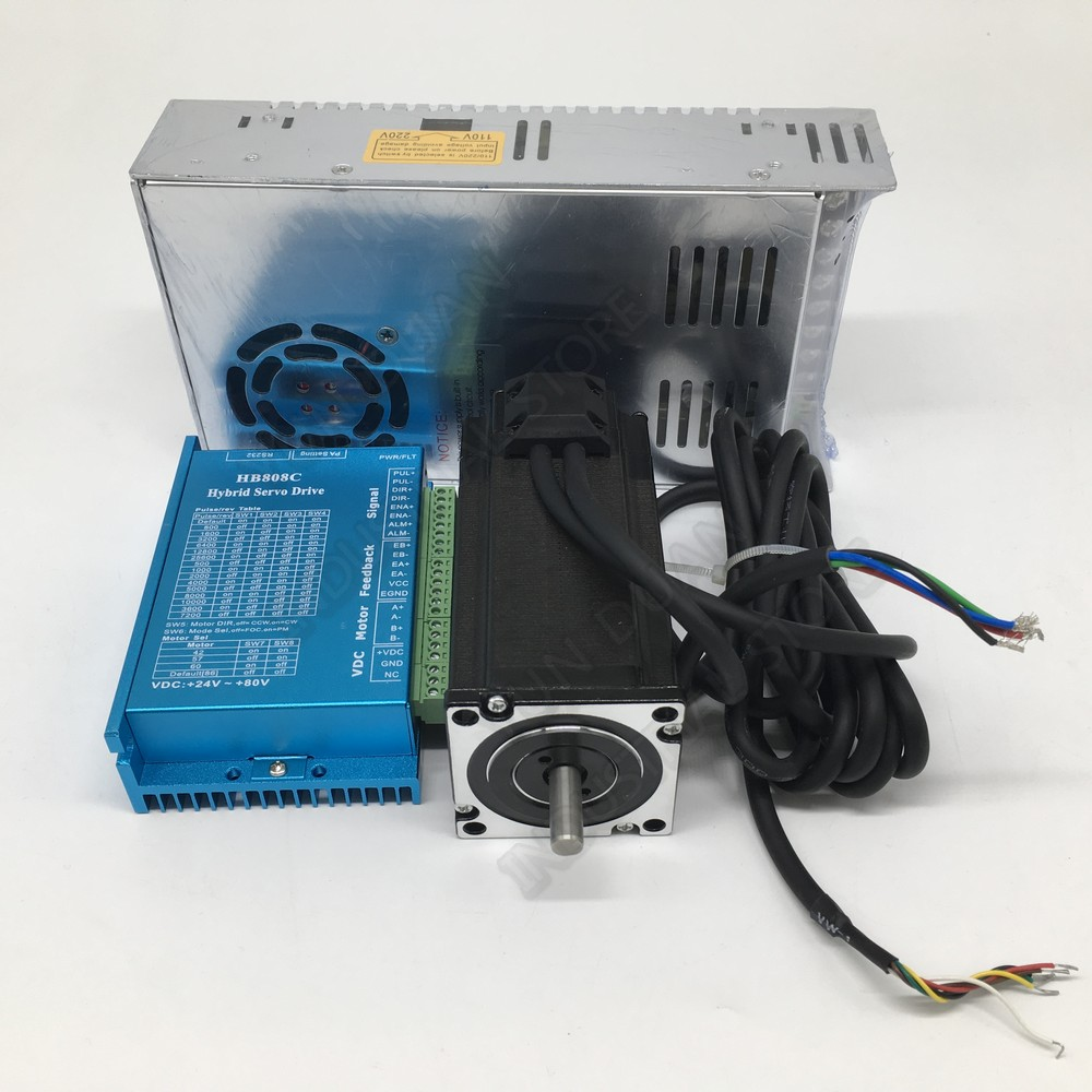 2.2Nm DSPNema23 Closed Loop Stepper Motor 2PH DC Drive Controller Power Supply Kits Hybird Encoder Easy Servo For CNC Router