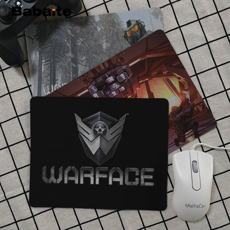 Babaite  Warface Computer Gaming Mousemats Rubber PC Computer Gaming Mouse Pad
