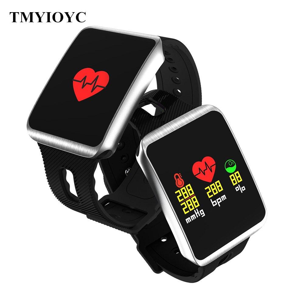 TF1 Bluetooth Smart reloj Nordic 52832 Chip IP68 salud impermeable presión arterial Monitor Smartwatch para iOS Android