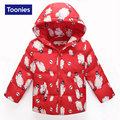 Hot Sale Down Coat 2016 Autumn Winter Kid's Fashion & Casual Jackets Zipper Hooded Coat Cute Animal Pattern Kids Warm Clothing