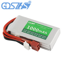 GDSZHS Rechargeable 3S Lipo Battery 11.1V 1000mAh 25C-30C For FPV RC Helicopter Car Boat Drone Quadcopter