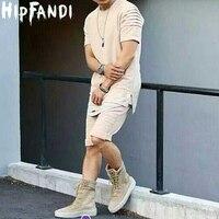 Hip Hop T Shirt Pleated Sleeve Biker T Shirt Tyga Kanye West Short Sleeve Top Tee