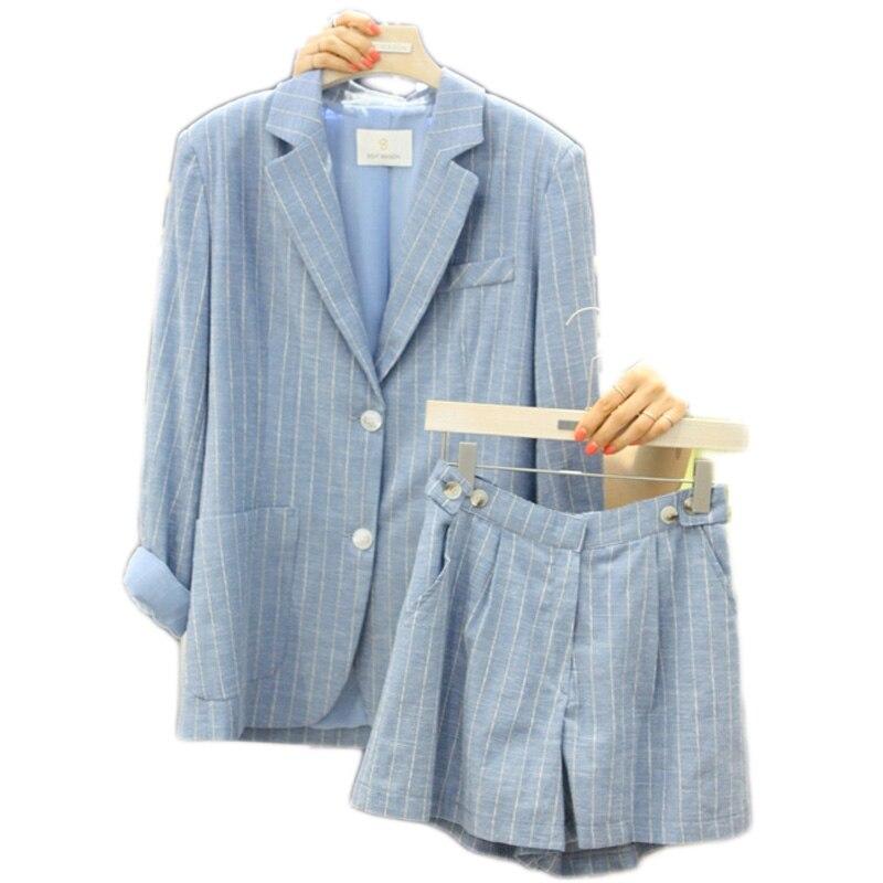 Marée De 1 2 Été Nouvelle Pièce Lâche coréen Petit Mode Coton Féminin 3 Loisirs Veste Costume Shorts qaq8HOwr6