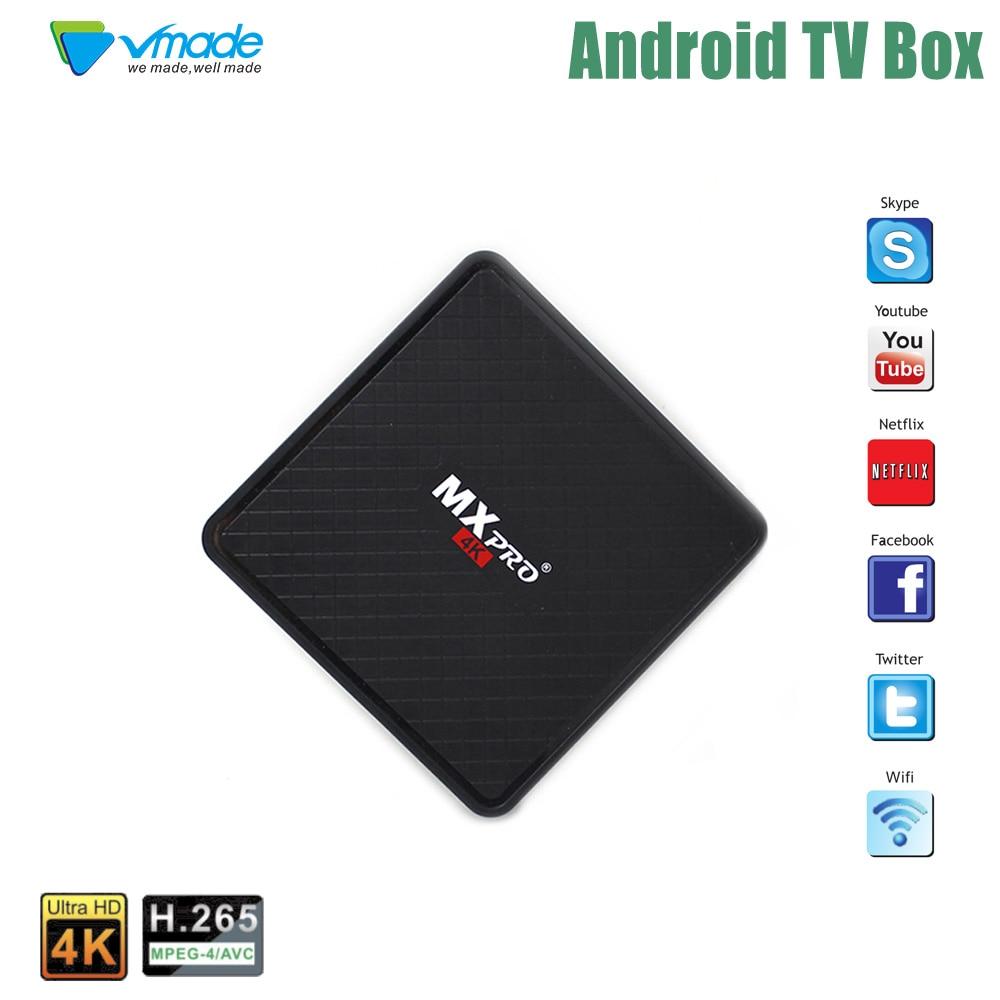 Vmade Android 7.0 Mini TV BOX 1 GB 8 GB Allwinner-H3 Quad core Cortex-A7 Soutien H.265 HEVC 4 K Soutien youTube Mini Set Top Box