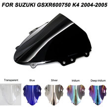 Windshield For Suzuki 04-05 GSXR600 GSXR750 GSXR 600 750 K4 Windscreen Wind Deflectors  GSX-R 600 750 2004 2005 2004-2005 for suzuki gsr 750 2001 2005 steering damper stabilizer bracket gsr750 01 2002 2003 2004 05 gsxr gsx r gsx r 600 750 gold