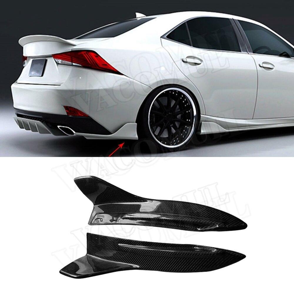 Lexus Sport Sedan: Carbon Fiber FRP Primer Black Rear Bumper Splitters Trims