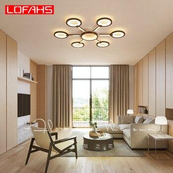 Lofahs LED Hiện Đại Đèn Chùm Chiếu Sáng Cho Phòng Khách Phòng Ngủ Phòng Ăn Nâu Cổ Điển LED Thiết Kế Đèn Chùm Ánh Kim