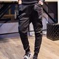 Jamickiki Brand Trousers Men 2016 Fitness Cotton Harem Pants Homme Casual Cotton Low-crotch Black Sportswear Sweatpants