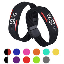 Mens Womens Rubber LED Watch Date Sports Bracelet Digital Wrist Watch Waterproof Silicone Ladies Sports Watches Wholesale 30A24