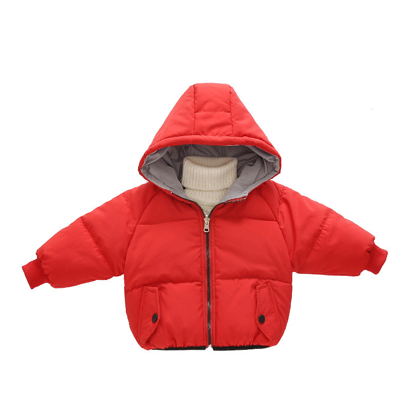 Winter Girl Jacket Thickening Childrens Cotton-padded Coat Embroidery Banana Outerwear Boys Jackets Two Kinds Of Wearing Way