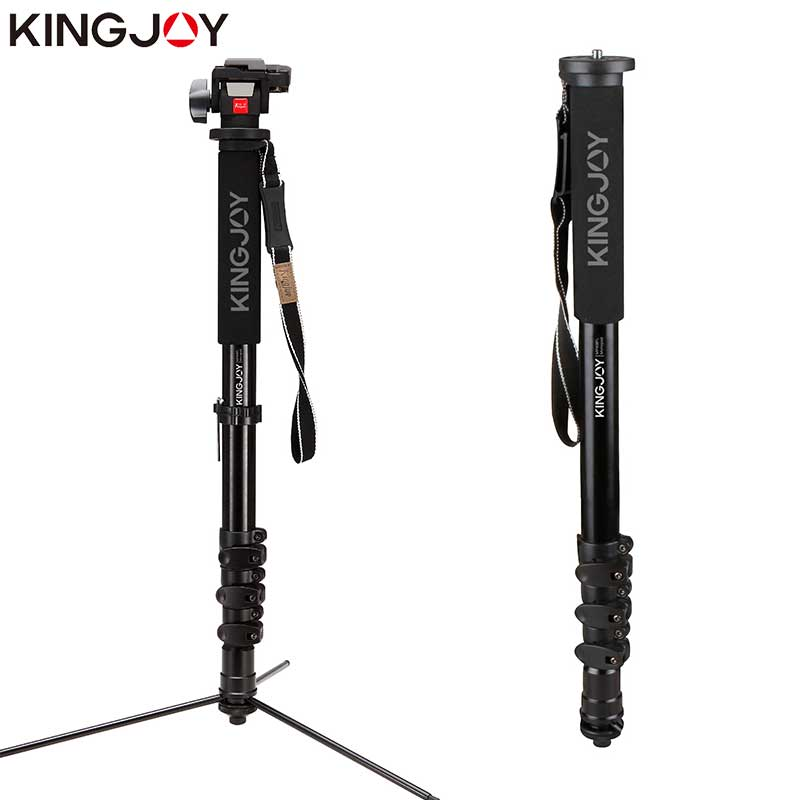 KINGJOY Officia MP408FL Monopod Dslr For All Models Professional Camera Tripod Stand  Video Para Movil Flexible Tripe Stativ