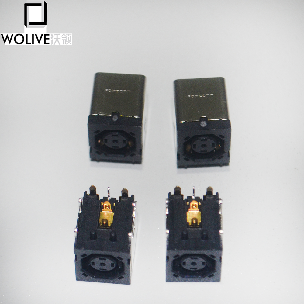 M60 M65 M6300 Dc Jack Socket Octagonal Elegant And Sturdy Package Wolive 10pcs/bag For Dell Precision M20 M2300 M4300