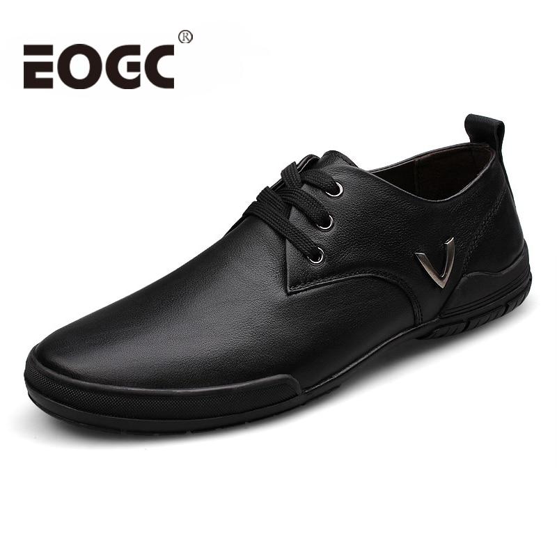 جودة عالية جلد طبيعي الرجال عارضة - احذية رجالية