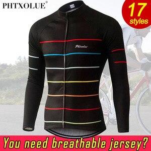 Image 5 - Phtxolue 열 양털 자전거 유니폼 가을 겨울 따뜻한 프로 Mtb 긴 소매 남자 자전거 착용 봄 여름 자전거 의류