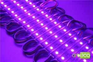 Image 5 - Módulo de led de 100 pçs/lote dc12v 5050 3leds, rgb luz de módulo de led rgb ip65 à prova dágua