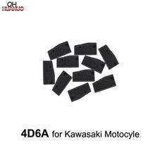10 PCS, 4D6A Chip Chip de Auto Transponder Chip de Carbono Cerâmica Carro Chip de Chave Em Branco Para kawasaki Motocyle