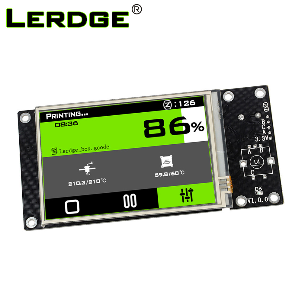 LERDGE 3D Printer Parts 3.5 Inch High-resolution Color Touch Screen For ARM 32-bit Controller Board 3.5